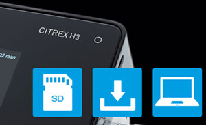 The CITREX H3 now lets you export test data easily